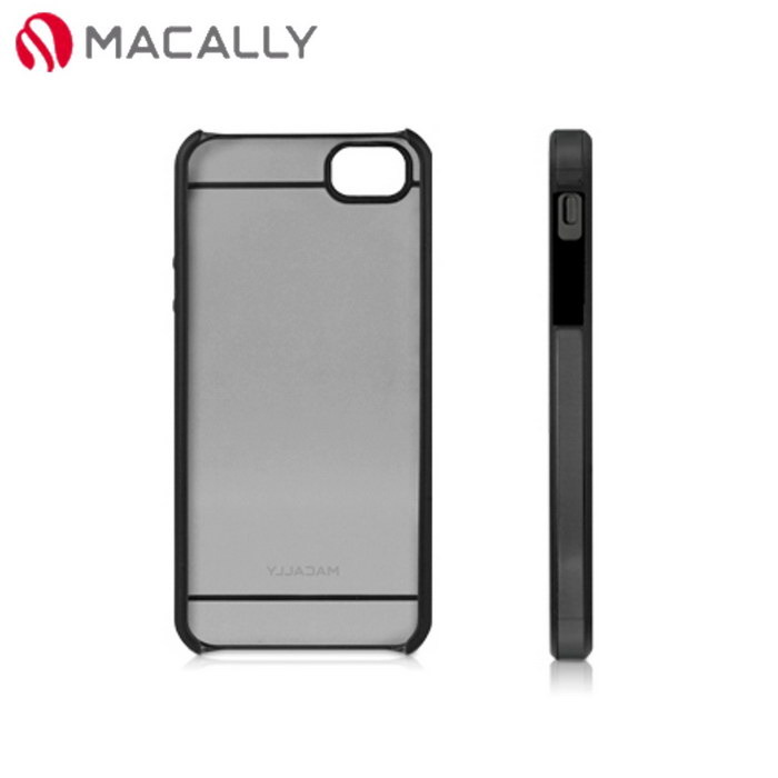 【Macally】iPhone 5/5S時尚晶透雙色保護殼-黑(CURVE5B)