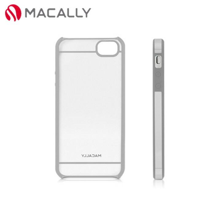 【Macally】iPhone 5/5S時尚晶透雙色保護殼-灰(CURVE5G)