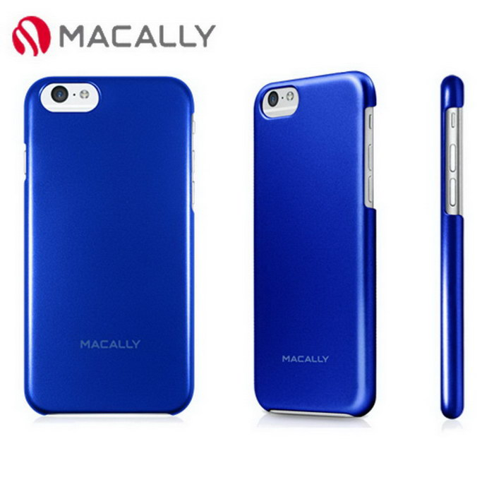 【Macally】iPhone 6(4.7)金屬質感防護背蓋-藍(SNAPP6MBL)