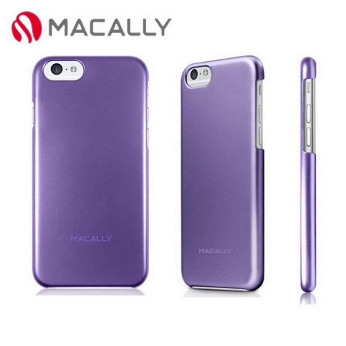 【Macally】iPhone 6(4.7)金屬質感防護背蓋-紫(SNAPP6MPU)