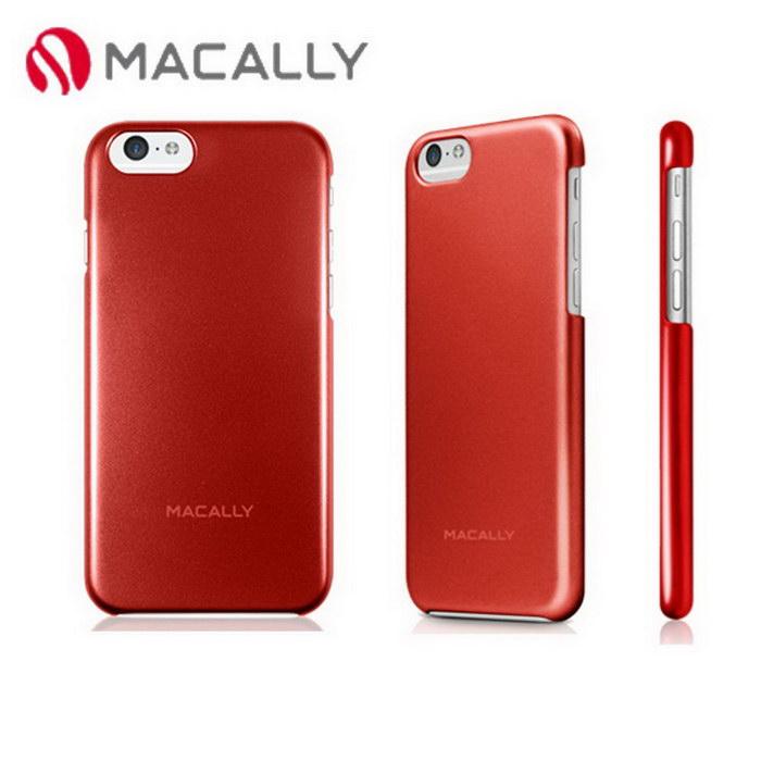 【Macally】iPhone 6(4.7)金屬質感防護背蓋-紅(SNAPP6MR)
