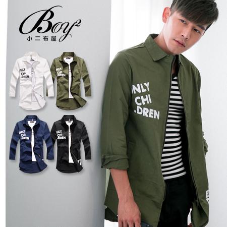 ☆BOY-2☆【NQ98054】美式街頭長版英字軍裝外套