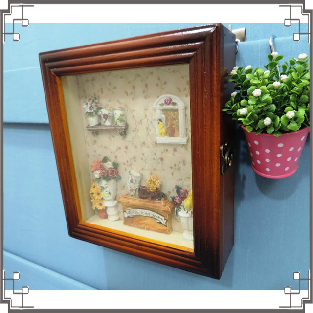 木製田園KEY BOX《WK1-1》鄉村鑰匙盒 木製鑰匙盒 壁櫃 收納櫃 壁飾◤彩虹森林◥