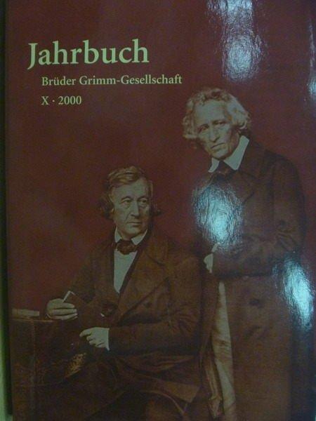 【書寶二手書T3/大學藝術傳播_YHM】Jahrbuch Der Bruder Grimm-Gesellschaft