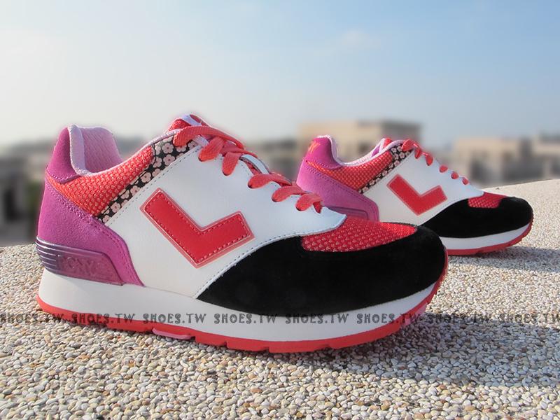 《超值7折》Shoestw【54W1SO67BK】PONY SOLA-T 復古慢跑鞋 內增高 短V 日本風 白黑桃 方格