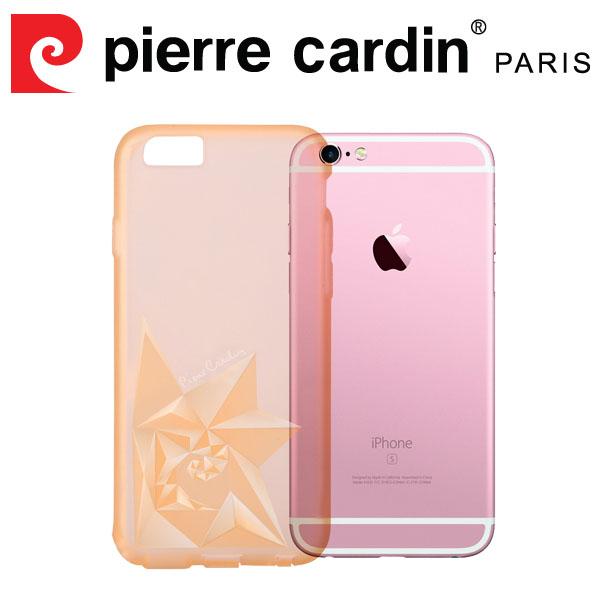 [ iPhone6/6s Plus ] Pierre Cardin法國皮爾卡登3D立體玫瑰TPU透明手機殼 透金色