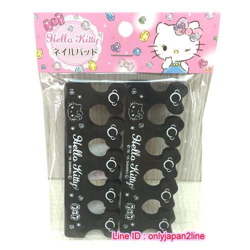 【真愛日本】161103000422入足部分趾棉-KT黑   三麗鷗 Hello Kitty 凱蒂貓  日本限定 精品百貨 日本帶回