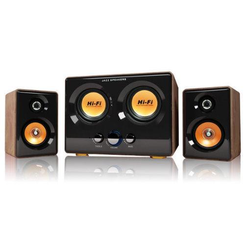 JS 淇譽 JY3241震天雷 雙低音全木質多媒體喇叭