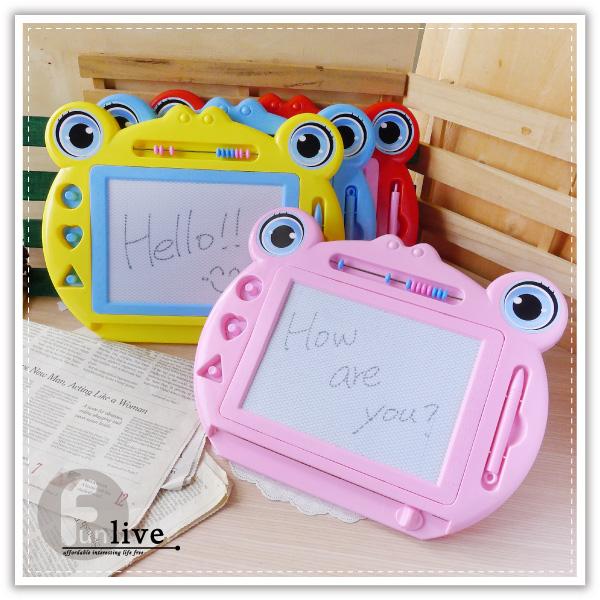 【aife life】青蛙磁性寫畫板-大/房屋磁力畫板/留言板/寫字板/塗鴉板/繪畫板/兒童畫板/可重覆使用