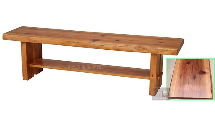 【尚品傢俱】833-03 青森 日本檜木全實木長椅/居家長凳/家庭休憩椅/庭院休閒椅