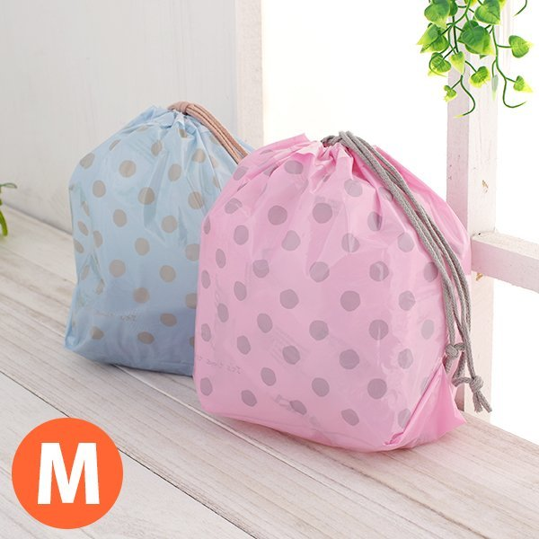 BO雜貨【SV5076】粉彩束口收納袋(M) 束口袋 防水 分類袋 收納袋 衣物分類 盥洗包 旅行收納袋
