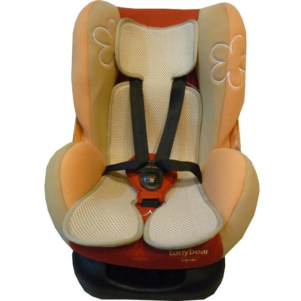 蓓舒眠3D立體彈性透氣水洗嬰兒車透氣涼墊(推車汽座兩用墊) 2入