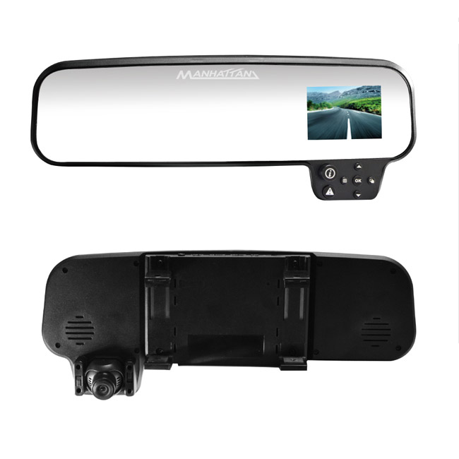 MANHATTAN RS.3 HDR高畫質後視鏡型行車記錄器 (搭載跨世代高動態(HDR)攝影技術)【送16G SD記憶卡】