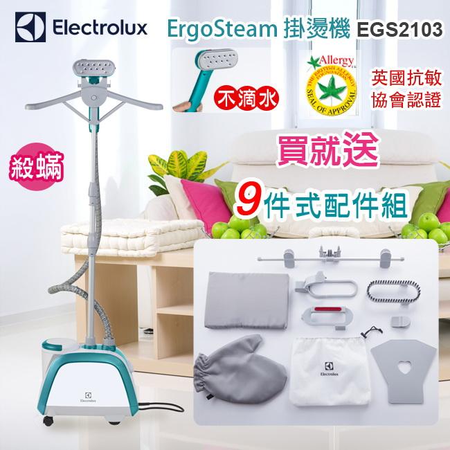 【預購,12月底到貨】EGS2103 Electrolux 伊萊克斯 ErgoSteam掛燙機