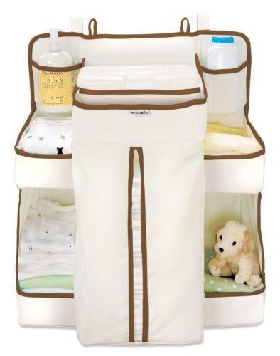 美國Munchkin 尿布收納袋 Diaper Organizer 寶寶尿布收納袋 尿布置物袋(咖啡色)