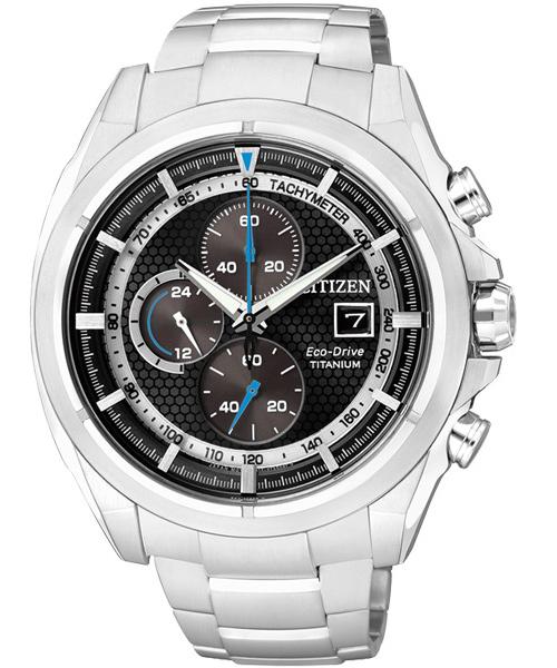 CITIZEN星辰CA0551-50E競速鈦光動能計時腕錶/黑面45mm