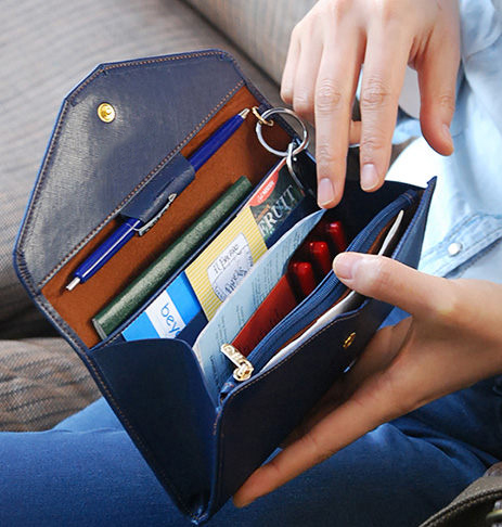 PS Mall 韓版氣質超薄軟皮長款錢包 多功能手機包 護照包 卡片包 零錢包 錢包【J478】