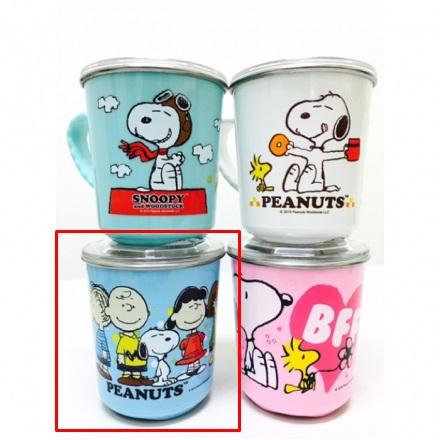 【真愛日本】16030900014附蓋不銹鋼杯-多人物  史努比 Snoopy 保溫杯 不銹鋼杯 杯子 水杯 居家