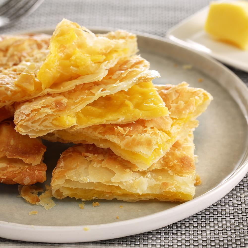 (蔥阿伯)卡士達奶油酥餅(2片)