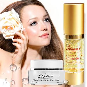 【SISNIER】煥采活顏珍珠嫩白霜+【SONOMA】高效能淨白黃金凝膠