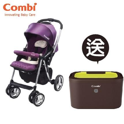 【本月贈市價$1980濕紙巾保溫器】日本【Combi】Mega Ride DX 嬰兒手推車-紫(1~48個月)(預購11月中到貨)