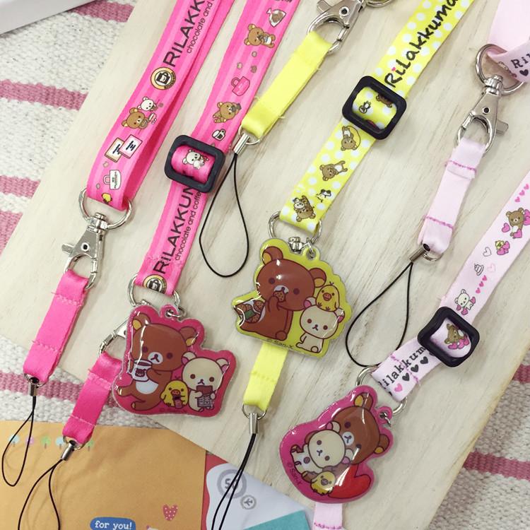 PGS7 (現貨+預購) 日本卡通系列商品 - 拉拉熊 系列 背帶 相機帶 頸帶 拉拉雄 懶懶熊 鬆弛熊 掛繩