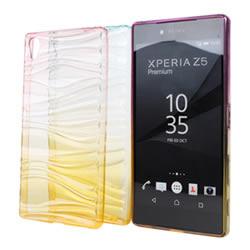 Ultimate- SONY Xperia Z5 Premium 清新漸層透彩波浪氣質軟質手機殼 背蓋 手機殼 果凍保護套 軟殼 清水套 保護殼