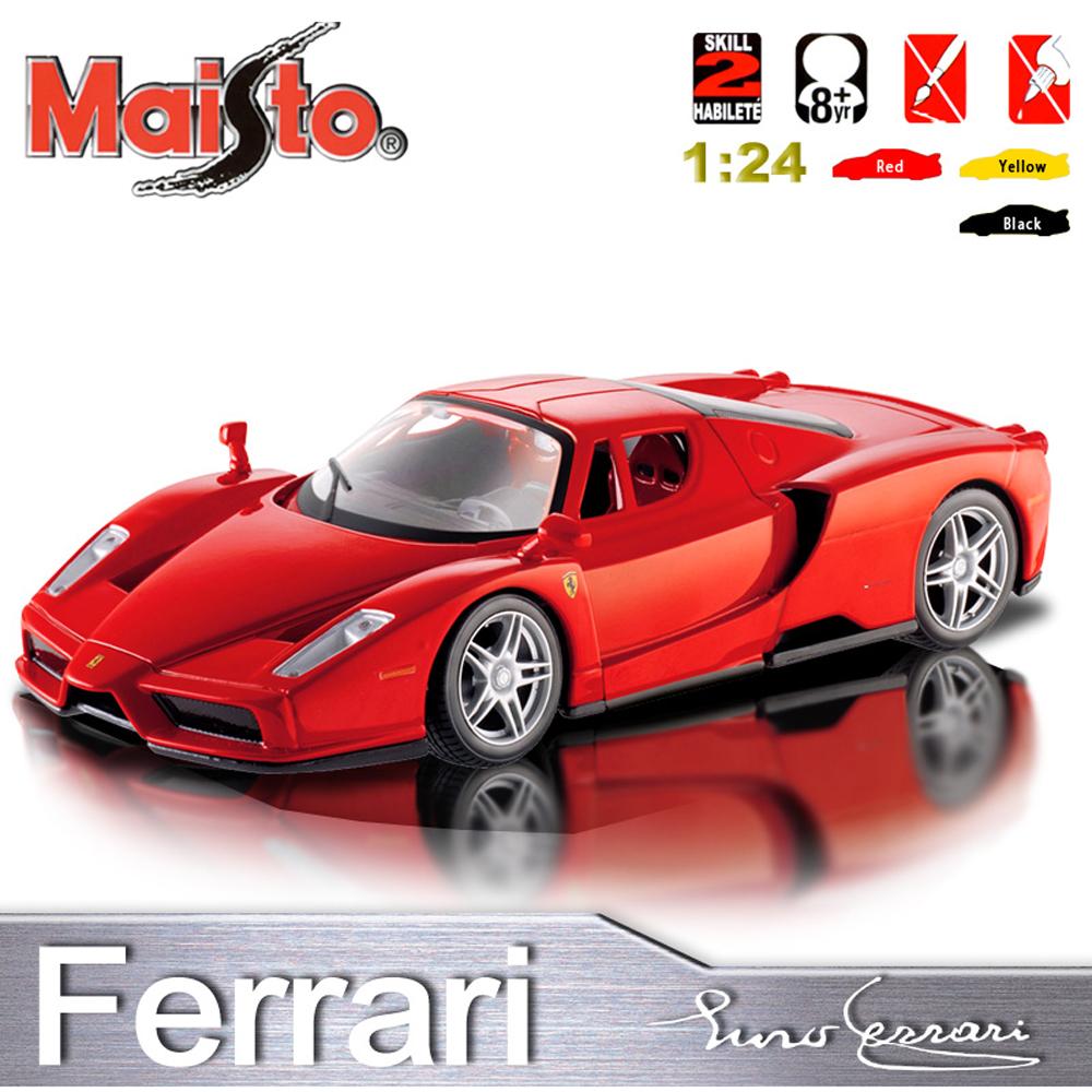 【Maisto】Ferrari ENZO《1/24 》合金組裝車 -紅