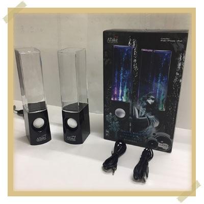 ATake/飛碟客 (正廠)飛碟客二代水舞音響手機音響電腦喇叭(黑)