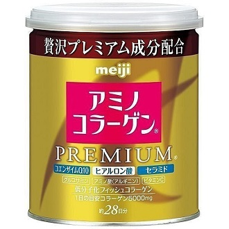 【12/6 21:00 整點特賣】日本 meiji 明治膠原蛋白粉罐裝 添加Q10及玻尿酸 白金尊爵版 日本熱銷NO.1 PG美妝
