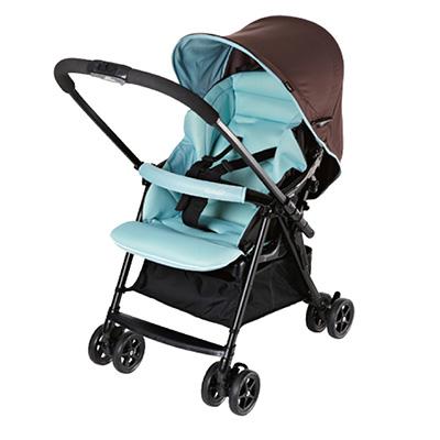 【悅兒樂婦幼用品舘】Combi 康貝 超輕量雙向嬰幼兒手推車 Cozy-天藍