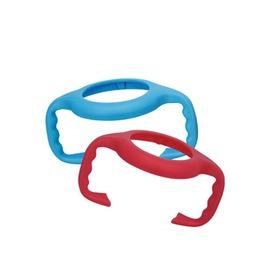 PUKU藍色企鵝 - 寬口奶瓶把手 (藍/紅)
