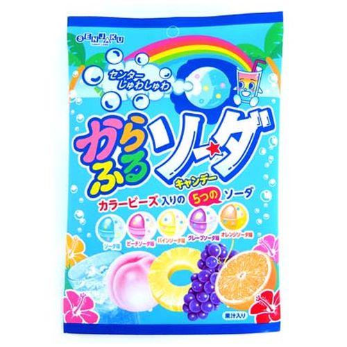 扇雀飴彩色綜合水果汽水糖(76g) 扇雀飴本舗 からふるソーダ