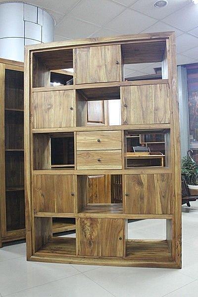 【石川家居】UG-25 柚木特殊造型書櫃/置物櫃/隔間櫃/玄關櫃 多功能使用 質感佳