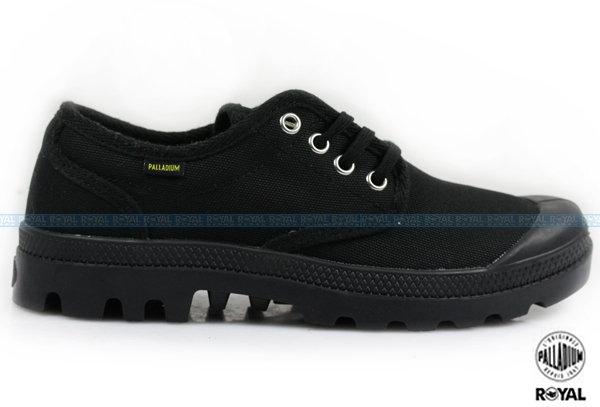 Palladium 新竹皇家 PAMPA OX ORIGINALE 黑色 布質  原創經典系列 休閒鞋 低筒 男款 NO.A8505