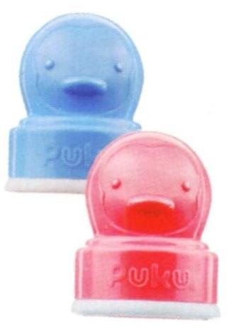 藍色企鵝 標準口徑造型奶瓶蓋 紅/藍 P11205