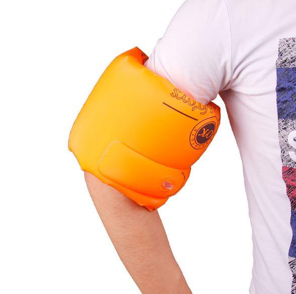 加厚手臂圈雙氣囊游泳水袖充氣浮圈浮漂救生學游泳圈 39元