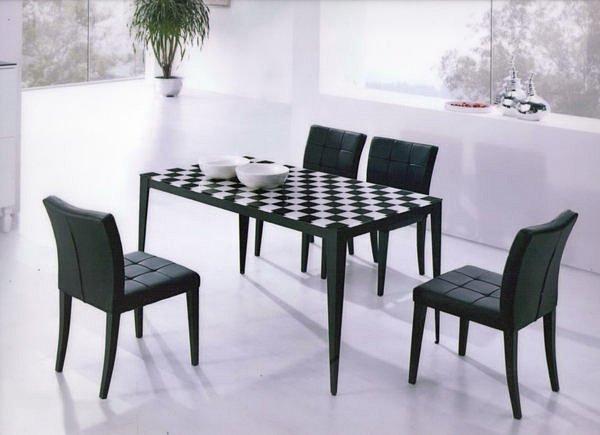 【尚品傢俱】419-02 爵士黑皮面防鏽砂餐椅~(不含其他商品)