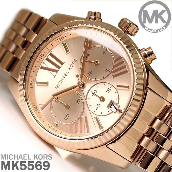 美國Outlet正品代購 MichaelKors MK  男女中性玫瑰金鋼帶錶 手錶 MK5569