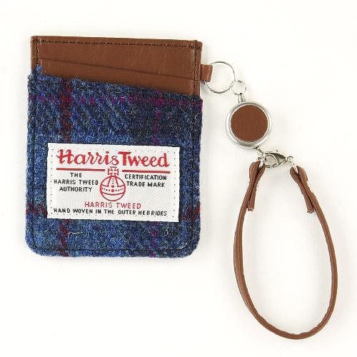 日本代購預購 英國品牌 日本製 Harris Tweed 毛呢 格紋 伸縮票卡 514-004 74