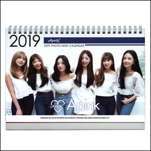 Apink 2017 2018 韓國 탁상용 달력 直立式照片桌曆