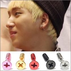 | Star World。Piercing |  B1A4 BARO 同款旋紋螺絲釘造型穿刺耳環 (單支價)