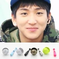 | Star World。Earring |  B1A4 BARO 同款棒球&球棒造型耳釘耳環 (一對)