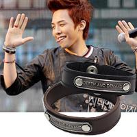 BIGBANG 權志龍 同款金屬標誌高質感皮革手環