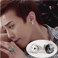 | Star World。Earring |  BIGBANG GD 權志龍 同款簡單時尚水晶圓耳釘耳環 (單支價)