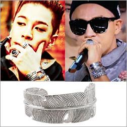 BIGBANG 權志龍 太陽 同款古銀葉片可調式手環手鐲