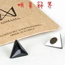   Star World。Magnet    Beast  龍俊亨 INFINITE  優鉉 立體三角錐水晶磁鐵耳環 *無耳洞適用 (單支價)