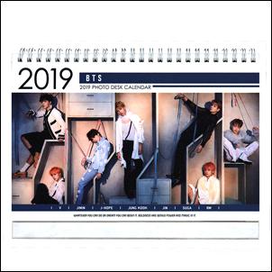 防彈少年團 BTS 韓國탁상용 달력 2017 2018 直立式照片桌曆台曆