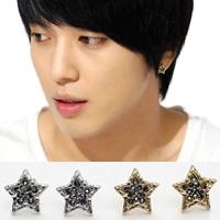 | Star World。Earring |  CNBlue  鄭容和 繁星閃爍五角星耳釘耳環 (單支價)