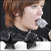 CNBlue 鄭容和 同款簡單造型立體五角星施華洛世奇水晶耳釘耳環 (單支價)